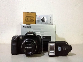 Camera Canon 10d N/ E 40d 50d C/ Flash E Lente 35mm Yongnuo