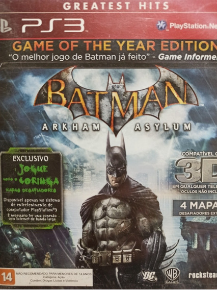 Batman Arkham Asylum Ps3 Original , A Pronta Entrega