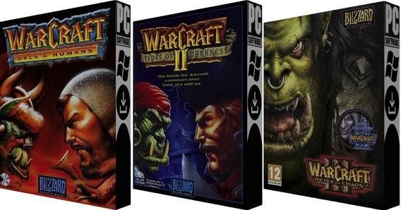 Coleção Warcraft 1+ 2+ 3 - Pc - Digital