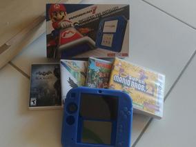 Nintendo 2ds Com 7jogos( 4 Mídia Física) Semi-novo