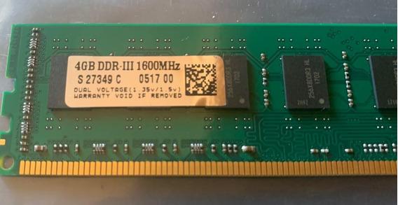Memoria Ram Pc 4gb Ddr3 1600 Mhz Memox
