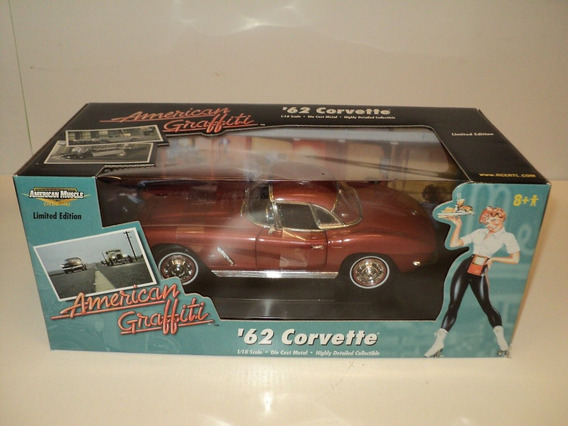 Mini Chevrolet Corvette 1962 Ertl American Graffiti 1:18
