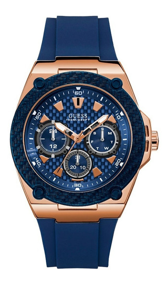 Relógio Guess Masculino Rosê/azul 92676gpgsru1