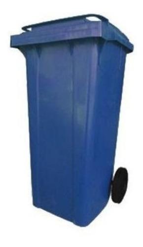 Lixeira Grande Contentor De Lixo 120 Litros - Cores