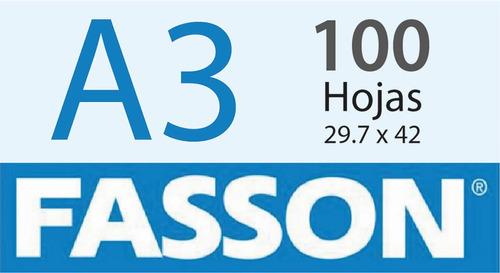 Papel Autoadhesivo A3 Ilustracion 100 Hojas Fasson