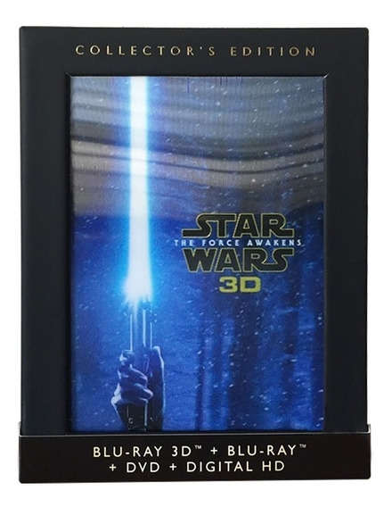 Star Wars 7 Despertar Fuerza Collectors Blu-ray 3d + Bd+ Dvd