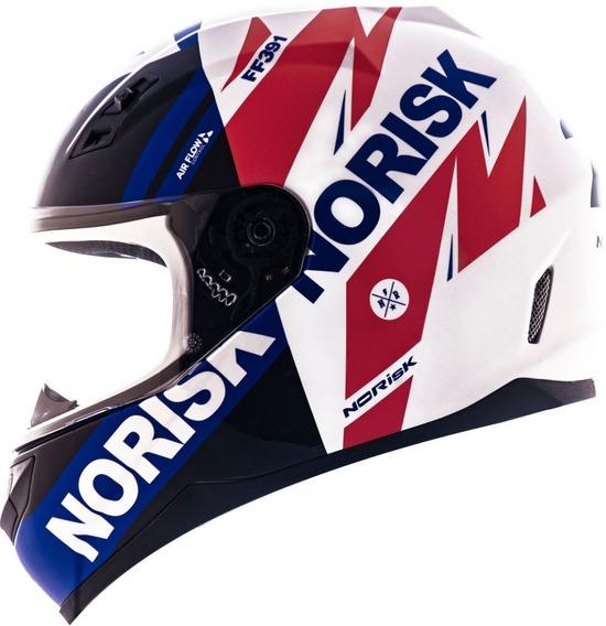 Capacete Norisk Ff391 Furious Tricolor Capacete Moto