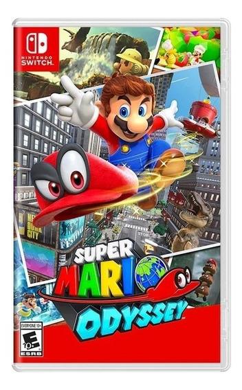Super Mario Odyssey Nintendo Switch Mídia Física Lacrada