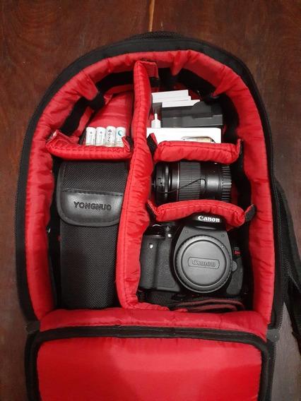 Canon T3i + Lente 18-55mm + 2 Baterias Originais Canon