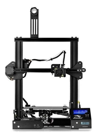Impressora Creality 3D Ender-3 black 110V/220V com tecnologia de impressão FDM