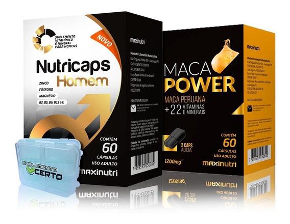 Kit Estimulante Nutricaps Testo + Maca Power - Maxinutri