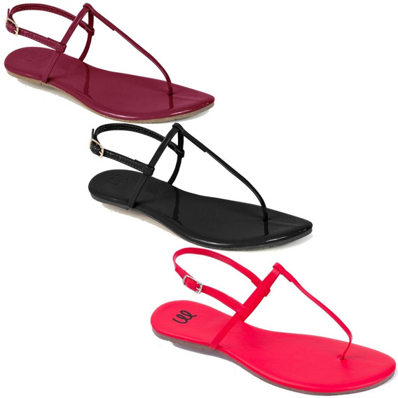 Kit 6 Pares Sandalia Flat Rasteira Feminina Mercedita Shoes