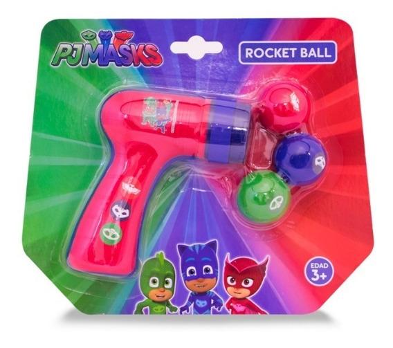 Pistola Blanda Lanza Pelotas Rocket Ball Pj Masks