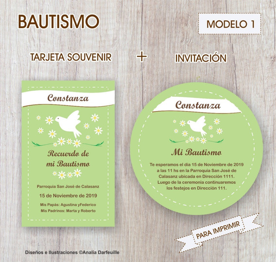 Invitaciones Para Bautismo Nena Souvenirs Bautismos