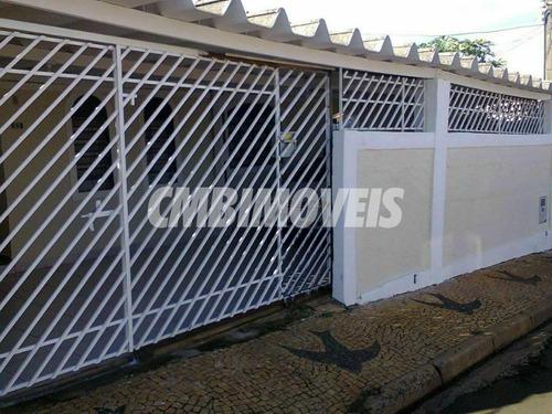 Casa Residencial Para Venda 3 Dormitórios Vila Miguel Vicente Cury Em Campinas - Ca06167 - Ca06167 - 68751219