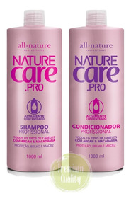 Kit Shampoo Condicionador 1lt Nature Care All Nature Lavatór