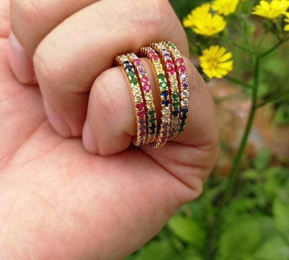 Anillo Rainbow, Arociris Zirconia. Circonia
