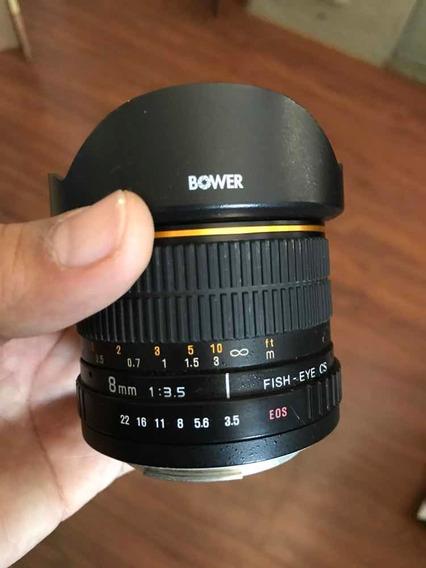 Lente 8 Mm Para Canon Grande Angular Olho De Peixe