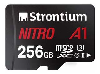Strontium Nitro 256gb Micro Sdxc Memory Card 100mb/s A1 Uhs-