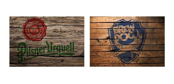 2 Quadros Madeira Rústico Cervejas Brewdog E Pilsner Urquell