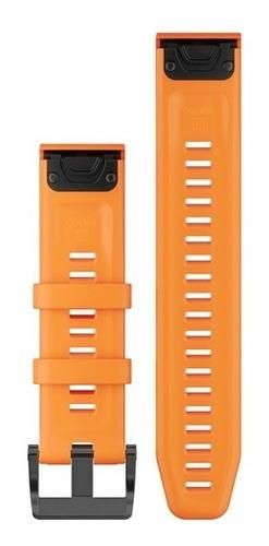 Kit Pulseira Garmin Quickfit 22 Laranja Fênix 5 Plus 935
