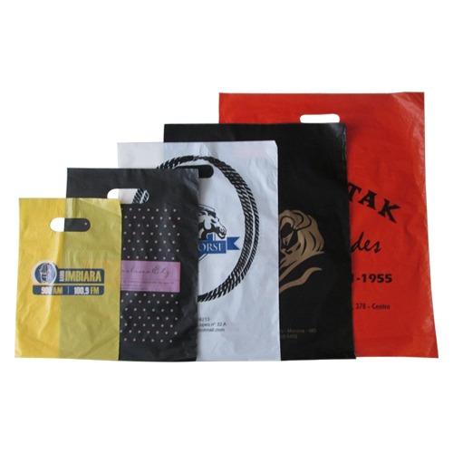 Sacolas Plásticas Personalizada 30x40 1000un Estampa 2lados