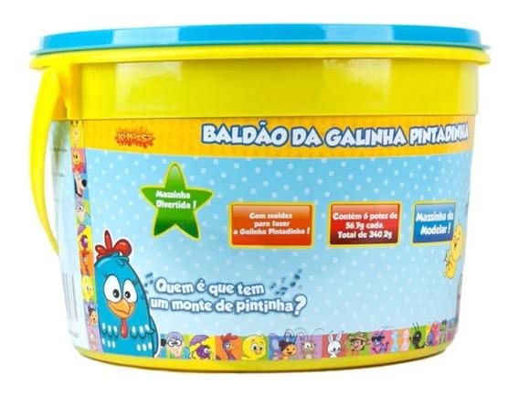 Kit Massinha De Modelar Baldão Galinha Pintadinha Sunny 373