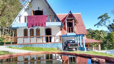 Casa De Campo Com 285 M2 De Contrução , Sauna, Piscina , Lago Com Peixe, 50 Klm De Resende. - 4137