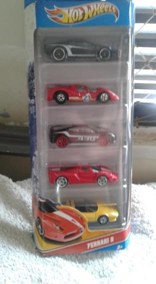 Miniaturas Pack C/ 5 Ferrari 2010 Hot Wheels Lacrado