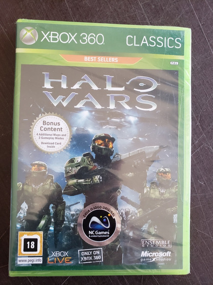 Halo Wars Classics Xbox 360 Original Lacrado Mídia Física