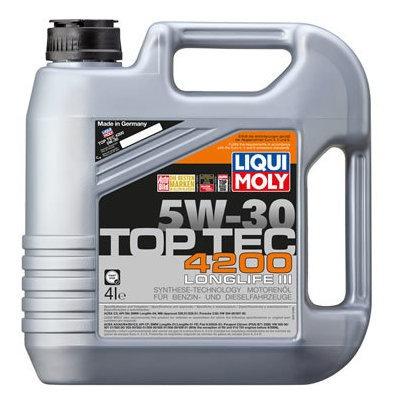 Aceite De Motor Liqui Moly 4 Litros 5w30 Sintetico Top Tec 4
