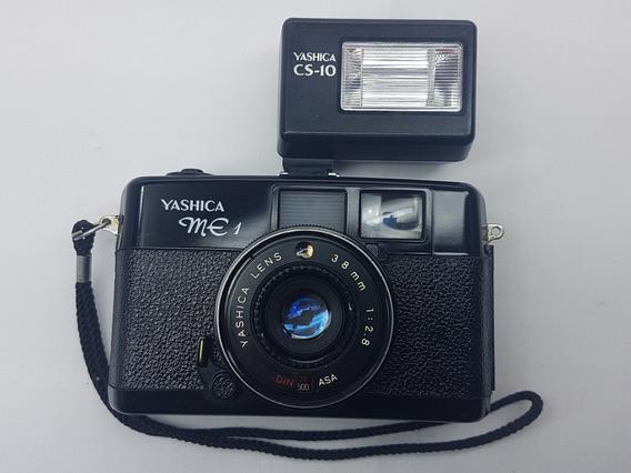 Maquina Fotografica Analogica Yashica Me 1 Com Flash Cs-10