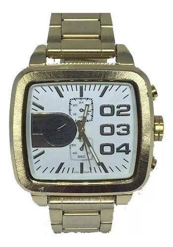 Relógio Original Quadrado Atlantis Dourado A3339 Top!!