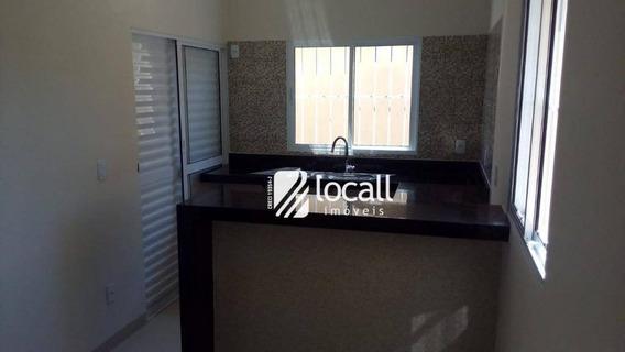 Casa Com 2 Dormitórios À Venda, 58 M² Por R$ 215.000 - Parque Dos Ipês - Mirassol/sp - Ca1856
