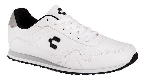 Tenis Casual Charly 9164 De Caballero De Blanco