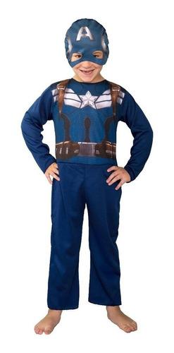 Disfraz Capitan America Avengers Nene Licoficial Economico