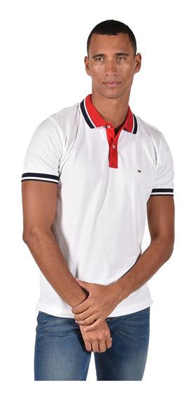 Polo - Tommy Hilfiger - Mw0mw10792-100 - Blanco Hombre