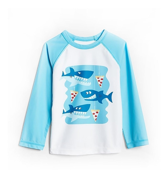 Remera Agua Gap Nene Upf50+ Proteccion Manga Larga 12 Meses