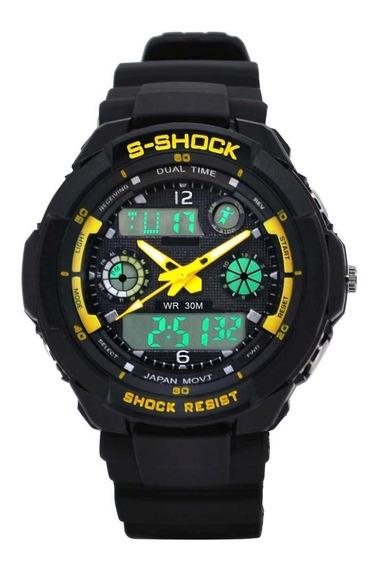 Relógio Rk02 Amarelo - Kikos