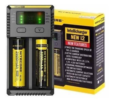 Carregador Nitecore New I2 + 2 Lg Hg2 3000mah