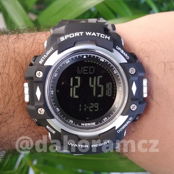 Relógio Masculino Esportivo - Wa9j001 - Cinza Camuflado