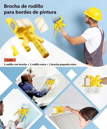 Imagen 1 de 10 de Kit De Rodillo Para Pintar Maneral Felpa Pared Pincel Esponj