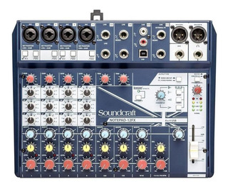 Soundcraft Interface De Audio Usb Consola 12 Canales