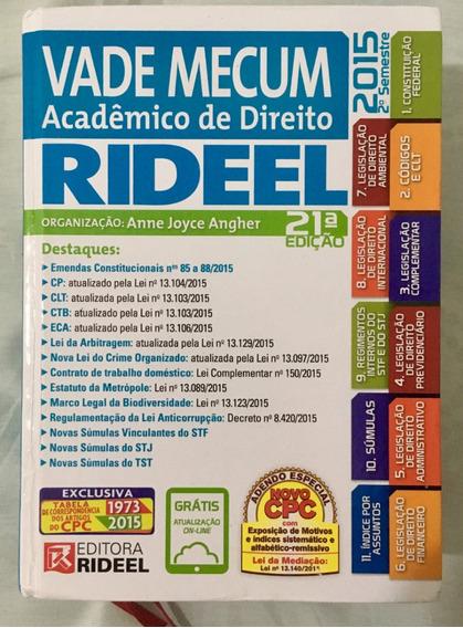 Vade Mecum - Acadêmico De Direito 21ª Edição - 2015 2º Sem.