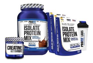 Whey Isolate Protein Mix 907g + 3x Refil + Creatina 300g