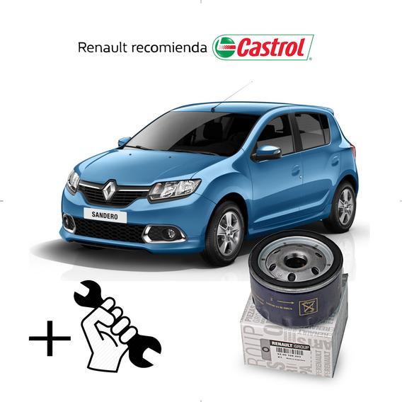 Cambio Filtro + Aceite Castrol 10w40 Renault Sandero 1.6 8v