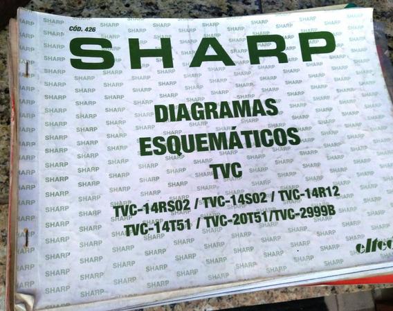 Manual Esquema Elétrico Sharp Audio E Video Antigo 7 Livros