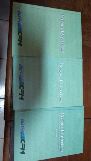 D - Projeto Diretrizes - Lote Com 3 Livros Medicina