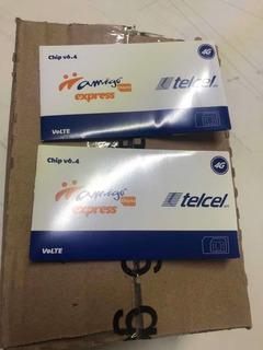 Caja 200 Chip R4 Telcel Liberar Con Recarga Y Llamada