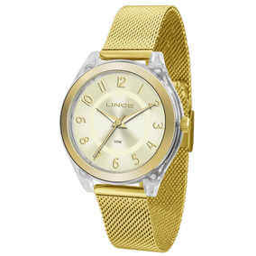 Relógio Lince Feminino Dourada Lrg4432p C2kx